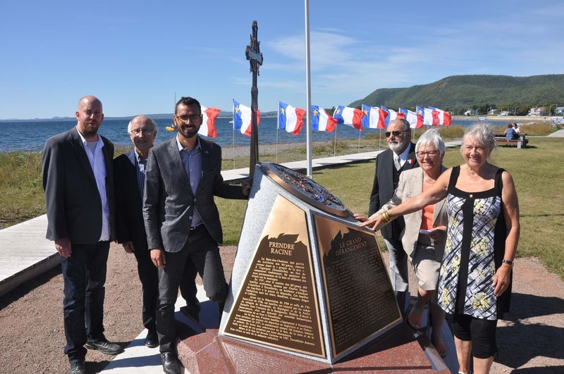 photo de l'inauguration du monument